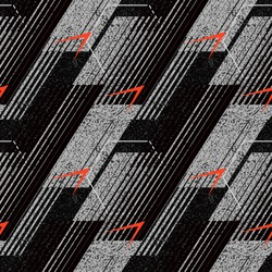 Abstract geometric seamless pattern with vertical fading lines, tracks, halftone stripes. Extreme sport style illustration. Trendy Urban colorful backdrop. Grunge, neon texture pattern.