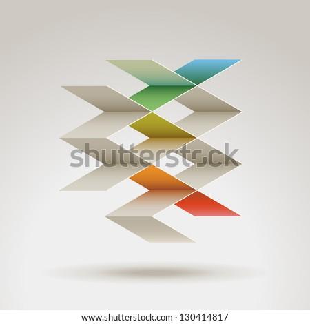 Abstract geometric shape, eps10 vector