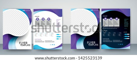 Abstract ,Geometric Shapes and free space to image for Presentation, Annual Reports, Flyers, Brochures, Leaflets, Posters, Business Cards & Document Cover Pages Design. A4 Title Sheet Template .