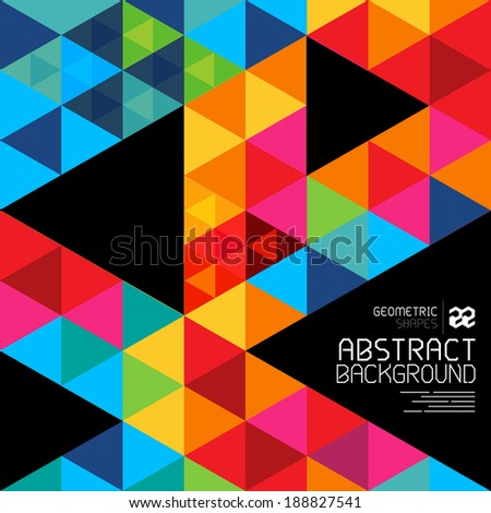 Abstract geometric shapes and patterns backgrond - vector illustration.