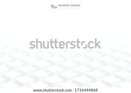 Abstract geometric square 3d shape pattern artwork background. Decorate for ad, poster, template, cover, print. illustration vector eps10