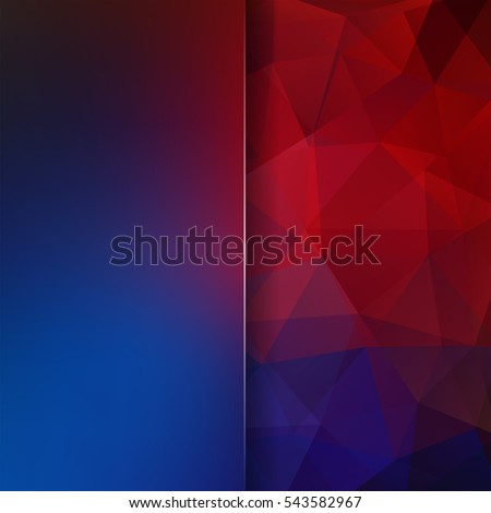 stock-vector-abstract-geometric-style-dark-background-blur-background-with-glass-vector-illustration-blue