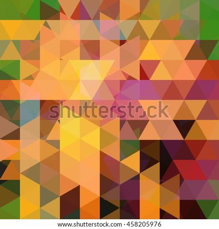abstract geometric style orange