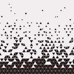 Abstract Geometric Techno Triangle Horizontally Seamless Pattern. EPS10 Vector