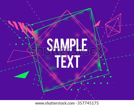 abstract geometric triangle and