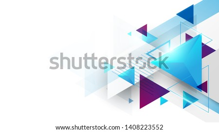 Abstract geometric triangles futuristic technology background. Illustration vector