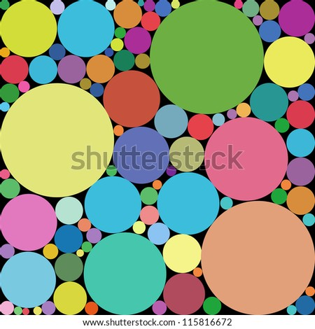 Abstract geometric vector background - circles. Rainbow dot. Vector illustration. - stock vector