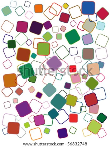 Abstract geometric vector background (no transparencies or gradients, fully editable)