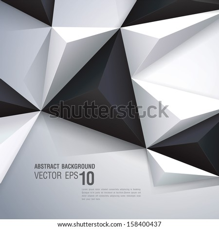 Abstract geometric vector background Template for the poster card flyer banner magazine cover or book cover