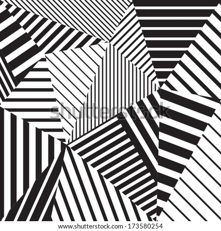 abstract geometric vector black