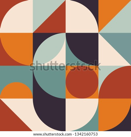 Abstract geometric vector pattern in Scandinavian style. Geometry minimalistic artwork modern poster with simple shape and figure. Colorful design art for wallpaper, texture, creative print,web banner