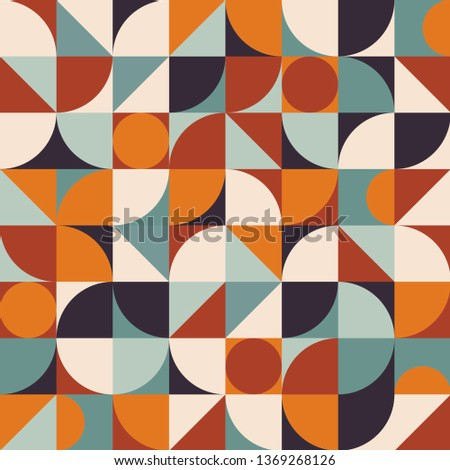 Abstract geometric vector pattern in Scandinavian style. Geometry minimalistic artwork modern poster with simple shape and figure.Colorful design art for wallpaper, texture, creative print, web banner