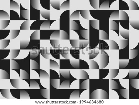 Abstract geometric vector seamless pattern made with simple shapes and gradient. Geometrical composition, useful for web design, business card, invitation, poster, textile print, background. Stockfoto ©