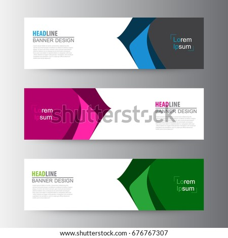 Abstract geometric vector Web banner design background, header Templates design.