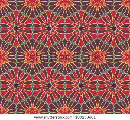 abstract geometric wallpaper pattern seamless background. Vector illustration