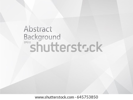 Abstract geometric white and gray Background with copy space