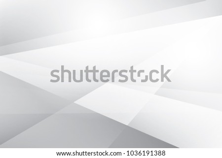Abstract geometric white and gray color background. Vector, illustration. #1036191388