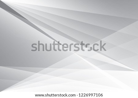 Abstract geometric white and gray color background. Vector, illustration. #1226997106
