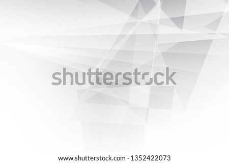 Abstract geometric white and gray color background. Vector, illustration. #1352422073