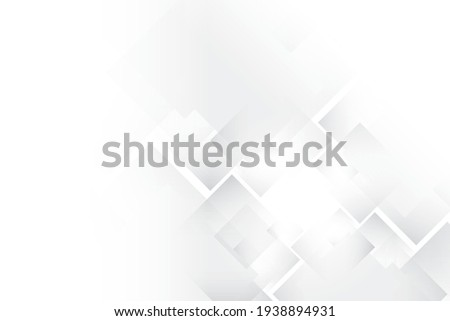 Abstract geometric white and gray color background with rectangle pattern. Vector illustration.