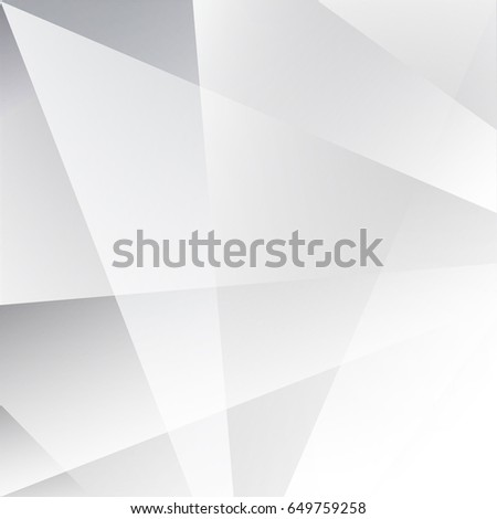 Abstract  geometric White and gray color technology modern futuristic background, vector illustration #649759258