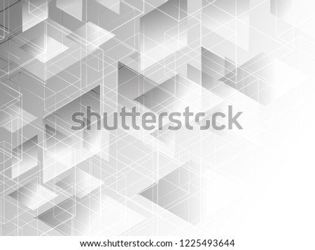 Abstract geometric white and gray with space modern design on Light gray background, vector illustration #1225493644