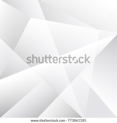 Abstract geometric white and gray with space modern design on Light gray silver background, vector illustration #773861185
