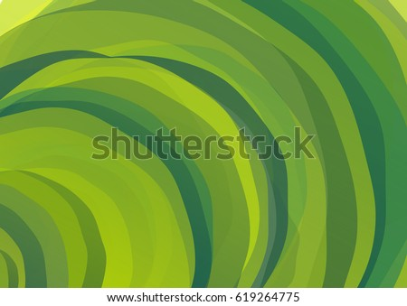 Abstract geometrical background with colorful ripply semicircles. Various green color tints: emerald, lime, olive.