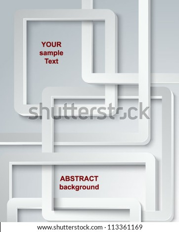 Abstract geometrical forms. Vector. - stock vector