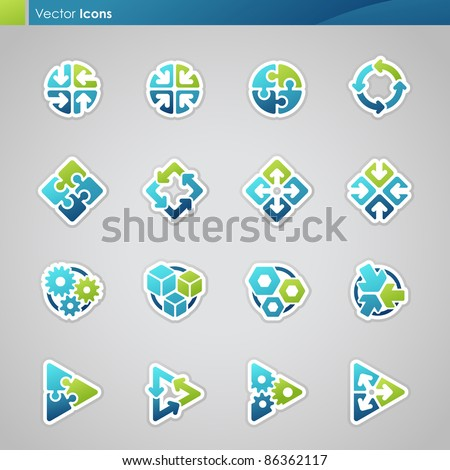 Abstract geometrical icons. Vector illustration.