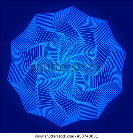 abstract geometry blue mandala
