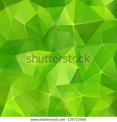 Abstract geometry green crystals seamless pattern