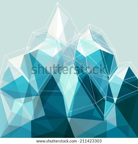 abstract geometry snow blue