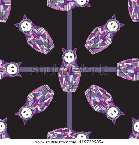 abstract girls vector seamless