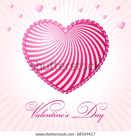 abstract glamour heart valentine day pink vector illustration