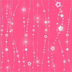 Abstract glamour pattern with glittering stars. Vector background