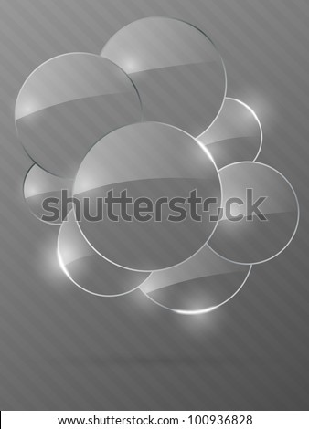 Abstract glass background. Vector illustration.