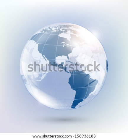 Abstract glass globe. Vector eps10.