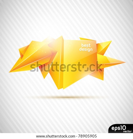 Abstract glass speech bubble (crystal banner)