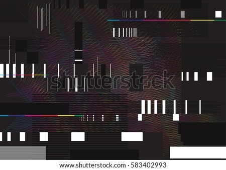 Stock Photo Abstract glitch background illustration. Glitched lines and rectangular shapes. data collapsing.