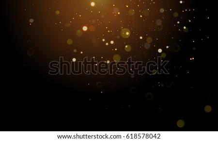 abstract glitter light on black