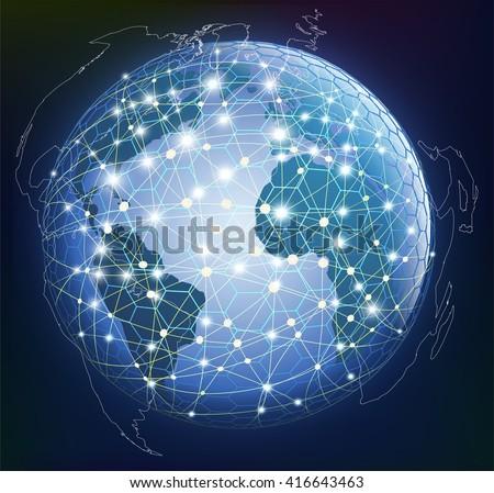 abstract global digital