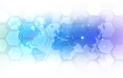 Abstract global technology background. Digital innovation concept for your design.