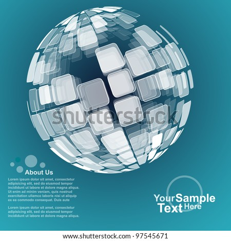 Abstract Globe Design Background Vector