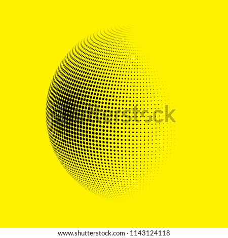 abstract globe dotted sphere