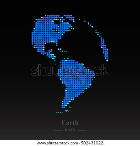 abstract globe earth ellipse