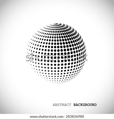 abstract globe halftone
