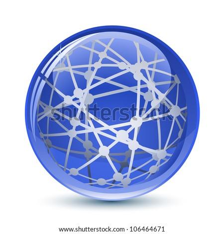 Abstract Globe Icon. Vector Illustration