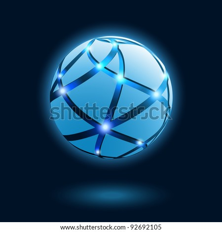Abstract globe icon. Vector illustration.  EPS 10.