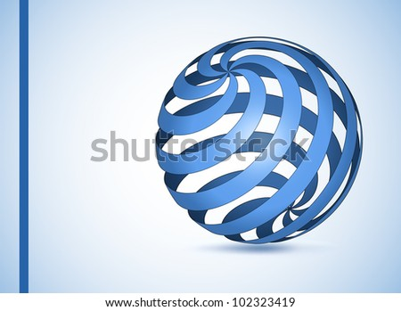 Abstract Globe Icon. Vector page template